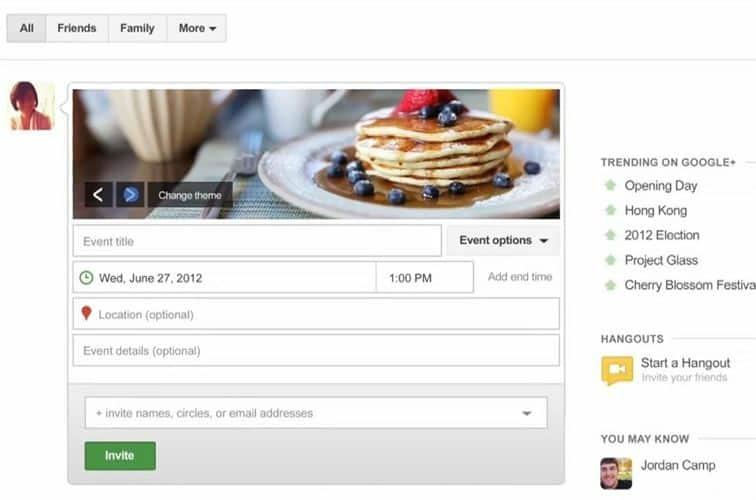 Google+ para tablets y Google Eventos