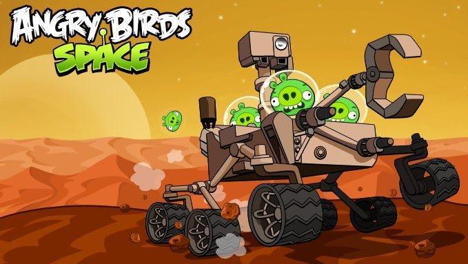 Los Angry Birds se van a Marte con el Curiosity