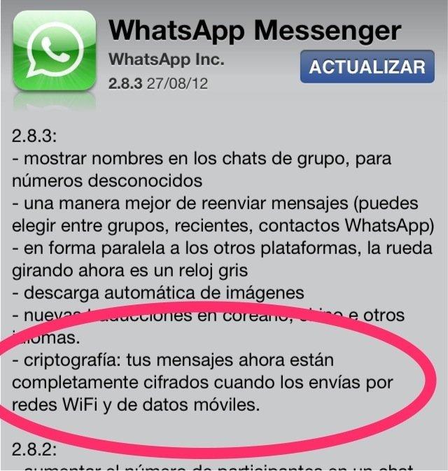 WhatsApp como ejemplo de aplicación poco segura
