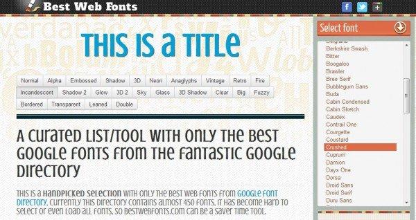 Herramientas Webmaster: Bestwebfonts