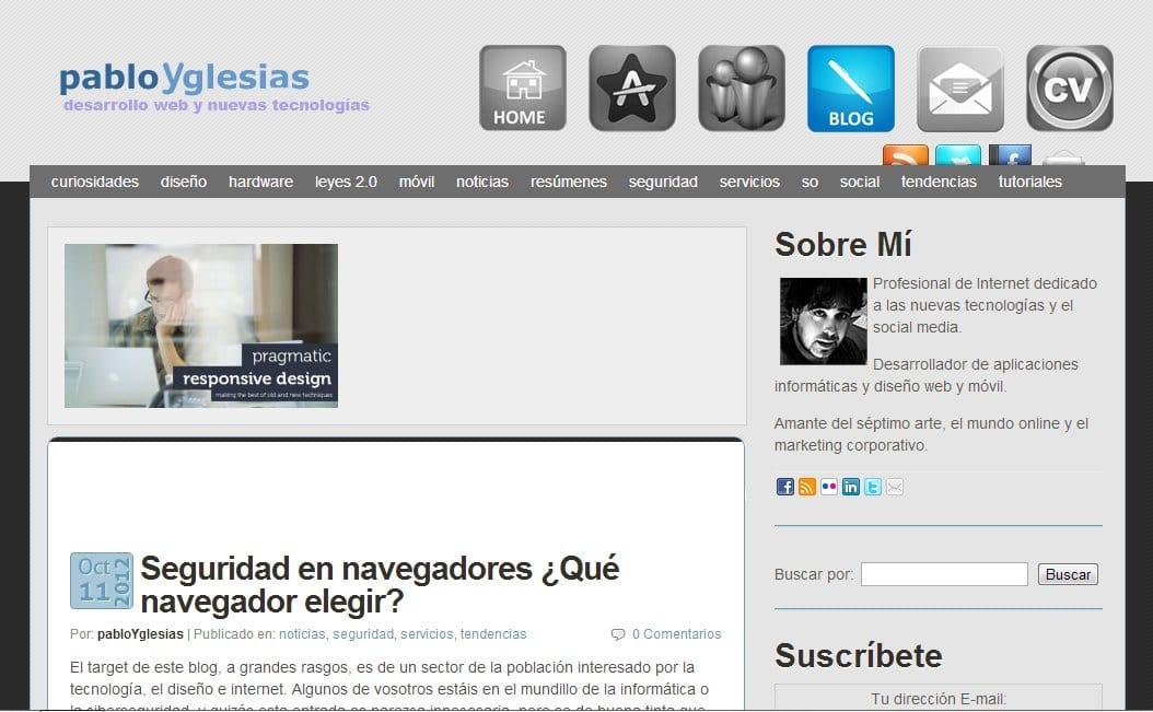 Categorías del blog de PabloYglesias cambiadas