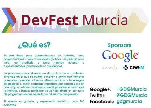 10 de Noviembre, cita para desarrolladores en Murcia: DevFest