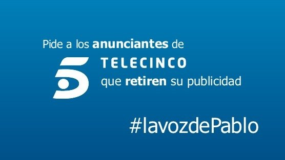 Telecinco intentando acallar al pueblo