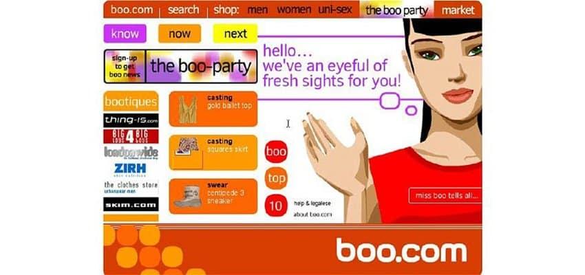 El caso de Boo.com y la importancia de la usabilidad