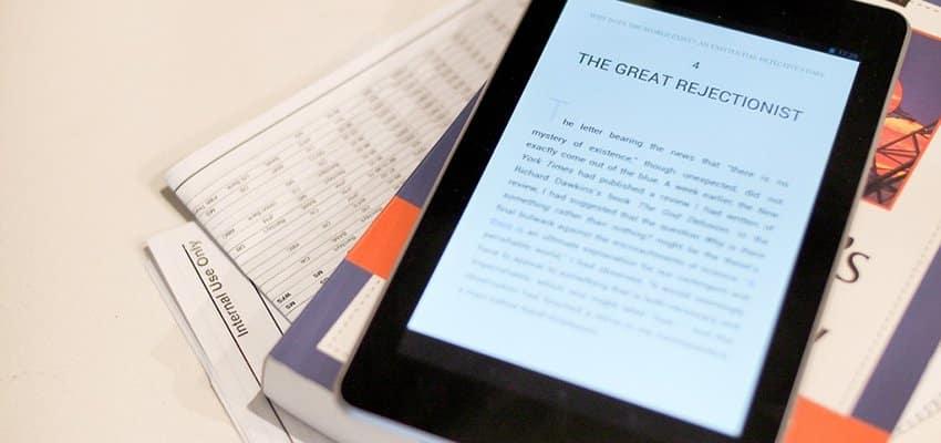 ESPECIAL: Ontología de la lectura digital frente al papel