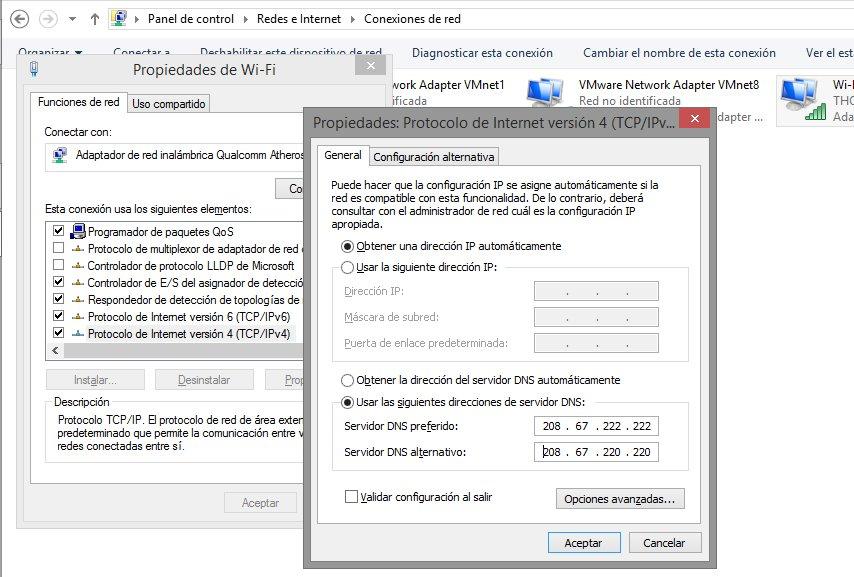 Bloqueo por DNS windows