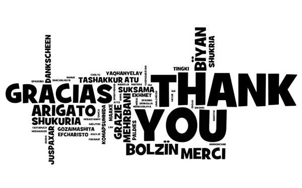 gracias multilingue