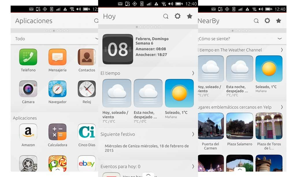 Ubuntu Touch screens