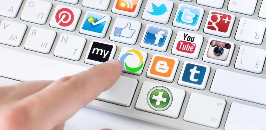 teclado redes sociales