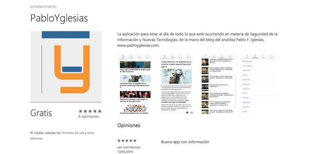 App de nuevas tecnologías y segurinfo PabloYglesias