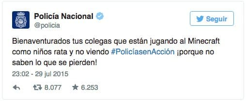 Tweet de la policía