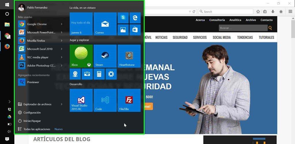 Windows10 escritorio