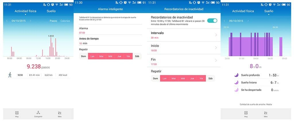 TalkBand B1 app 2