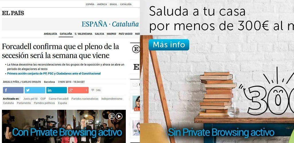 elPais private browsing