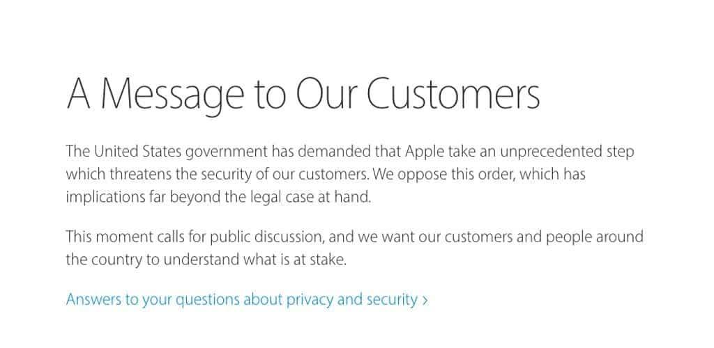 Apple garante privacidad