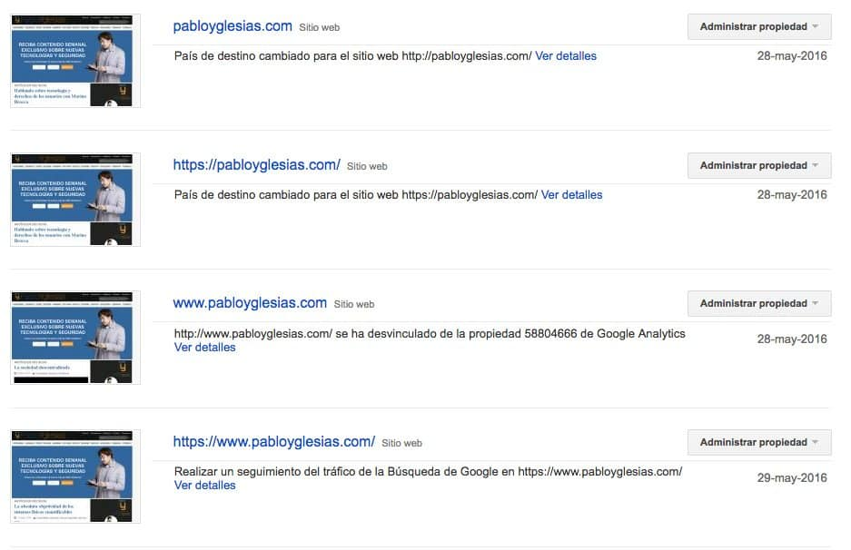 Search console PabloYglesias
