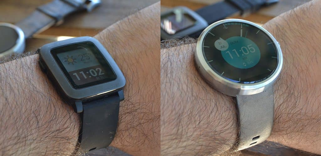 Comparativa Pebble Android Wear Primera