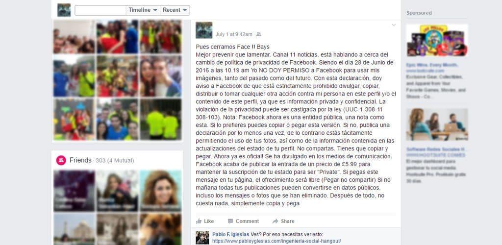 hoax pabloyglesias facebook