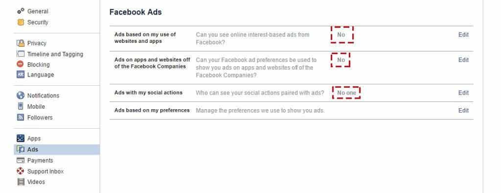 privacidad publicidad facebook