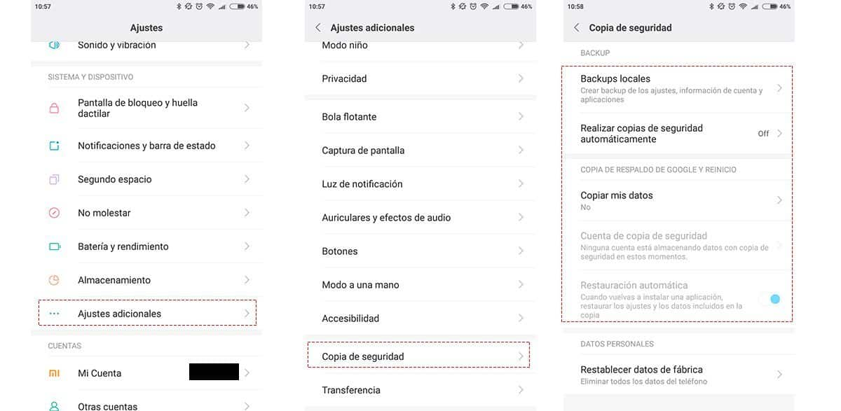 copia seguridad android