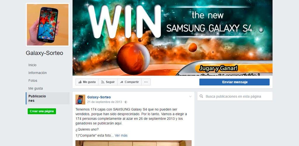 sorteo fail facebook