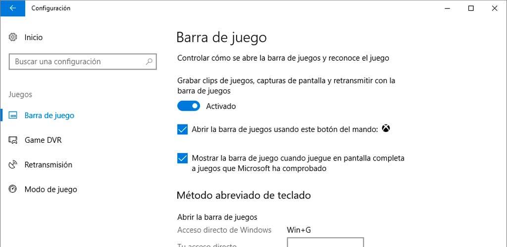 modo juego windows10