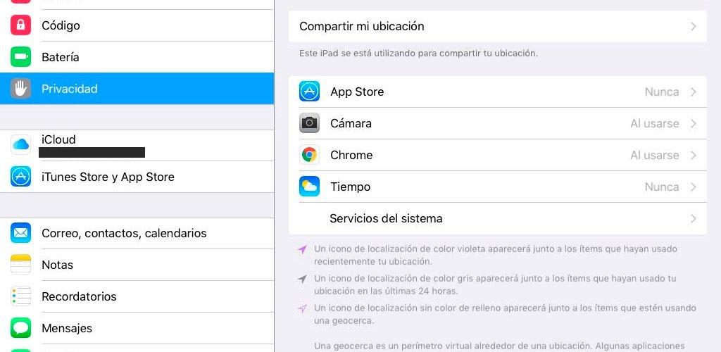 GPS iOS