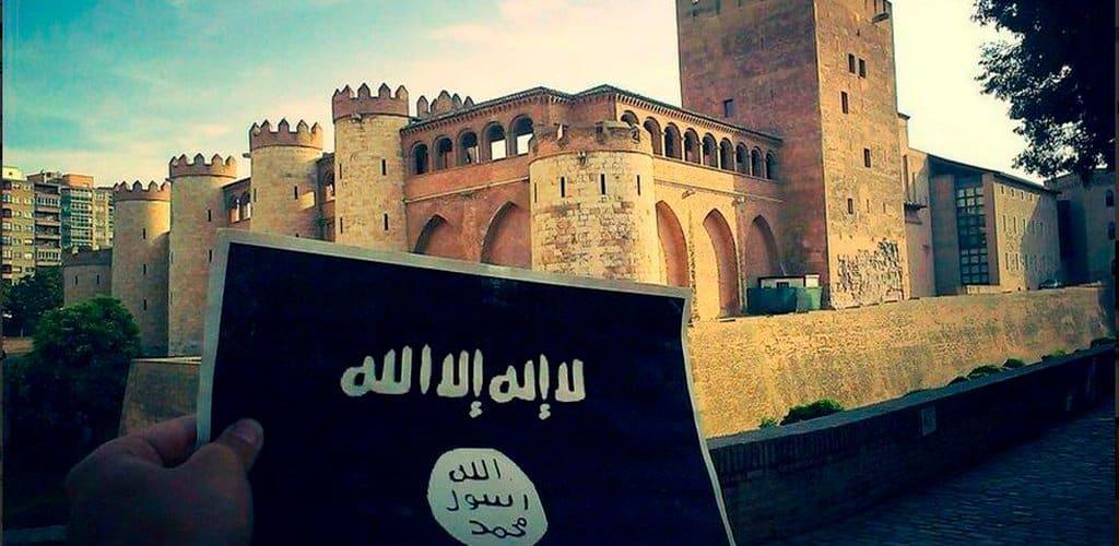 Foto apoyo ISIS Zaragoza