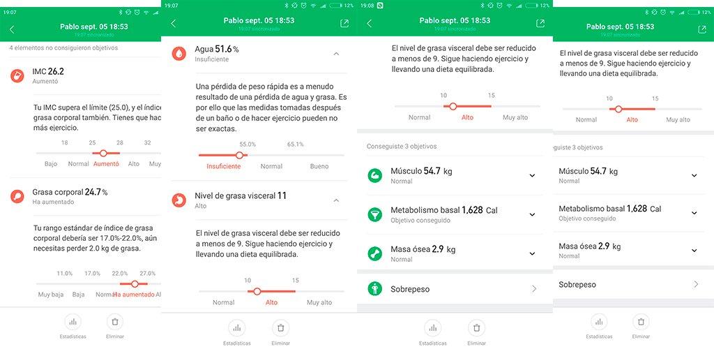 Xiaomi mi scale 2 datos
