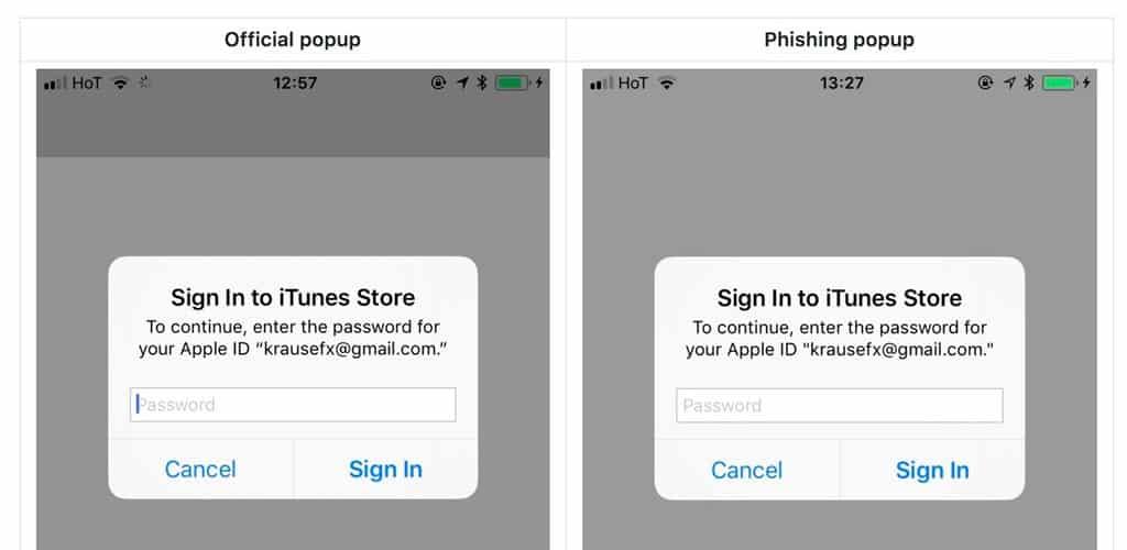 popup phishing