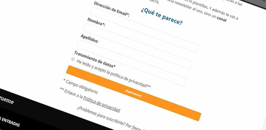 Cumplir GDPR en email marketing