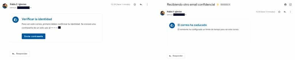 recibir email confidencial gmail