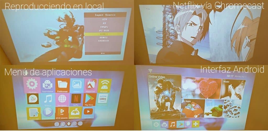 Excelvan projector interfaz