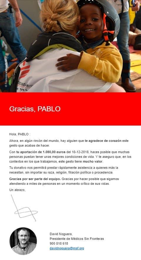 donación médicos sin fronteras