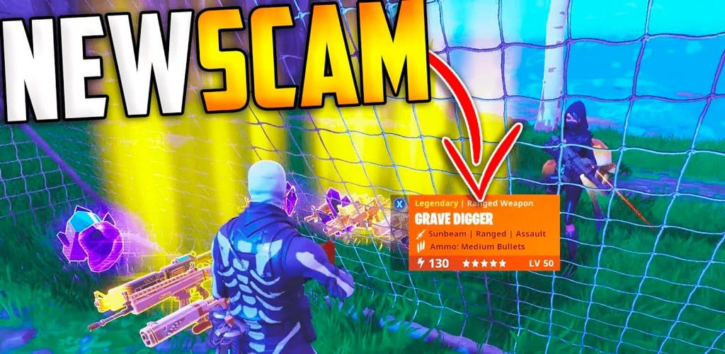 fornite scam fraude