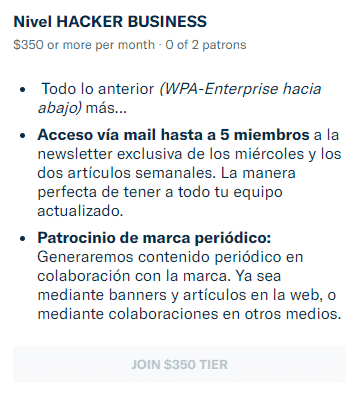 mecenazgo hacker business