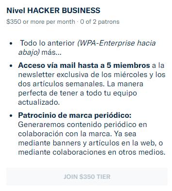 mecenazgo hacker business