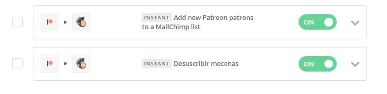 zapier patreon mailchimp