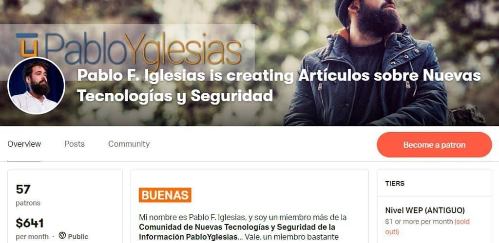 Novedades de abril en el mecenazgo de PabloYglesias