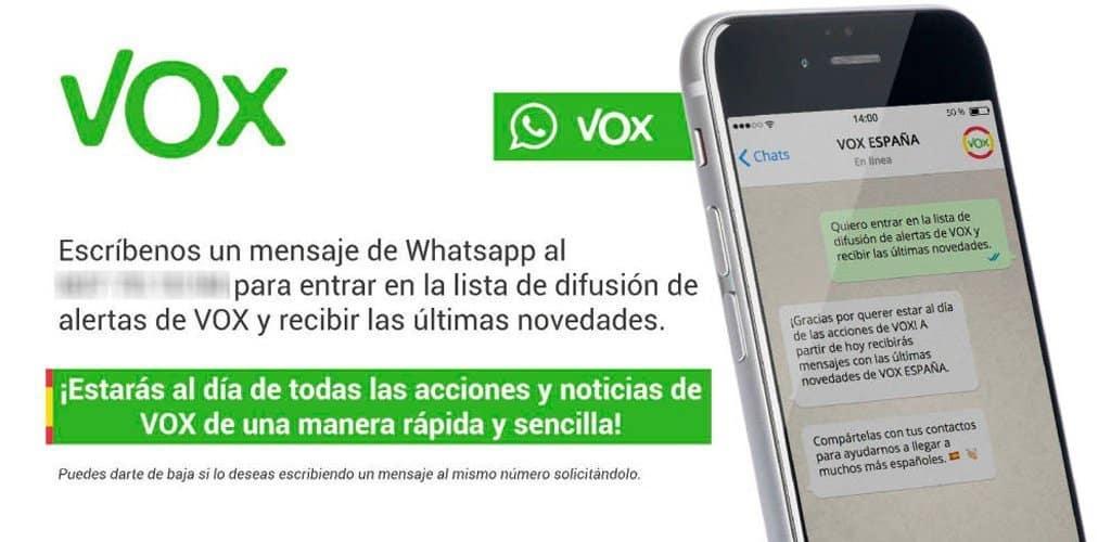 VOX y las listas de difusión de WhatsApp: Sobre los límites de la exposición informativa