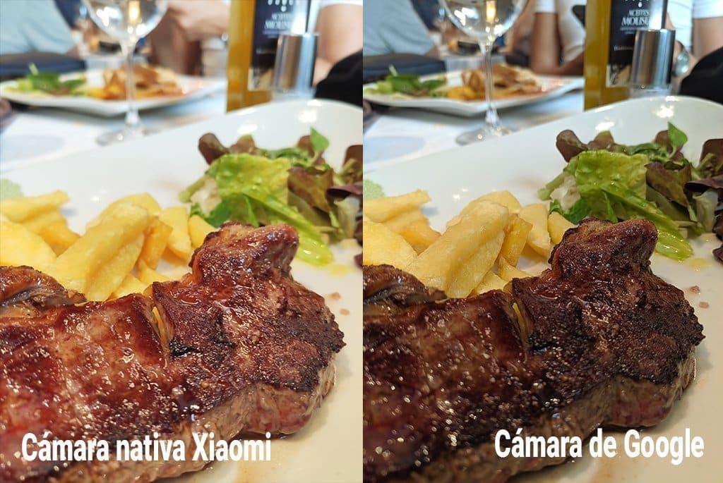 comparativa trasera comida