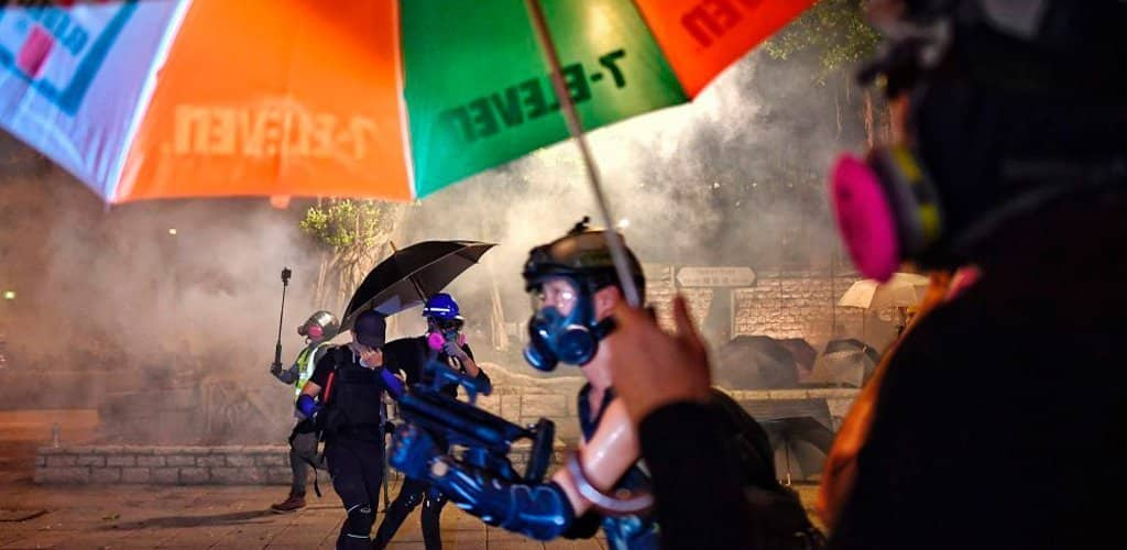 paraguas defensa gas pimienta