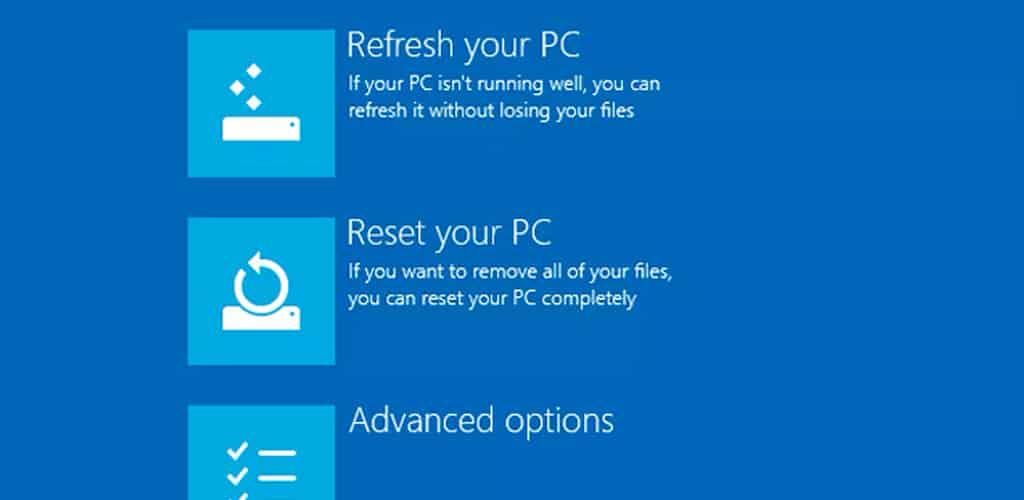 resetear windows10