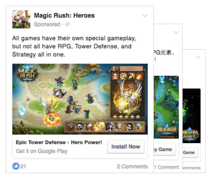 fake mobile games ads