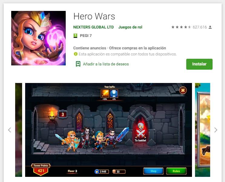hero wars real game