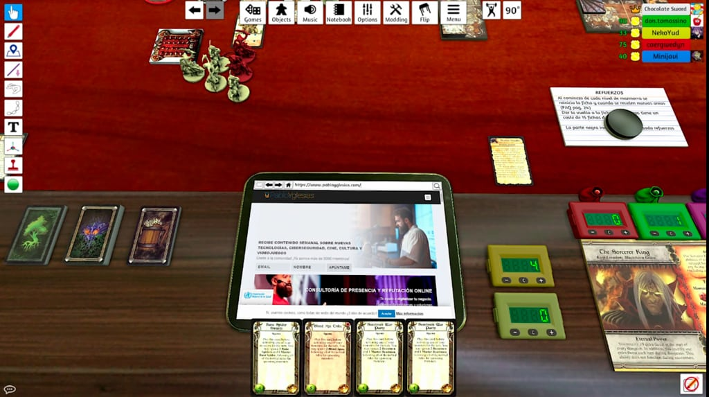 tabletop simulator tablet