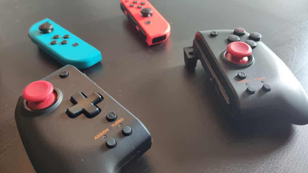 comparativa joy con mandos Split pad pro nintendo switch