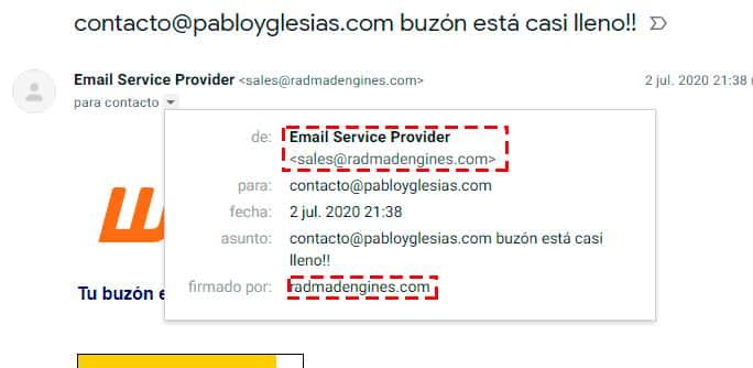datos identificadores phishing