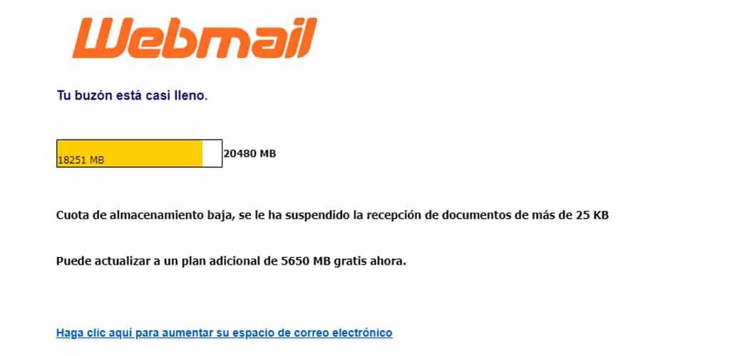 ejemplo phishing email