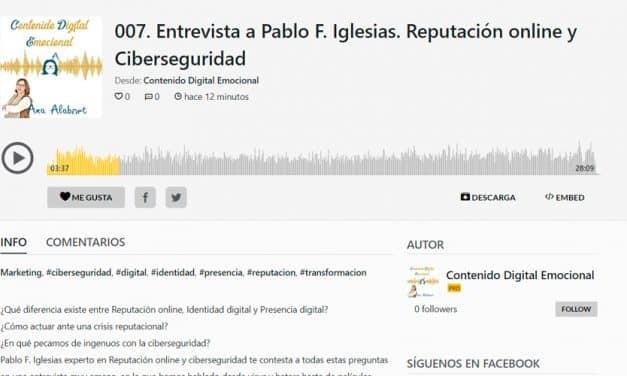 Entrevista sobre reputación online en el podcast de Ana Alabort